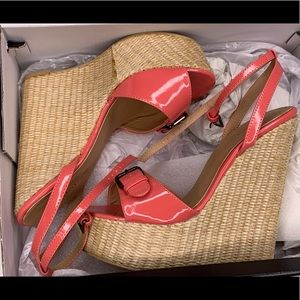 JustFab Coral Wedges